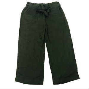 For Cynthia linen gauchos tie waist cropped pants